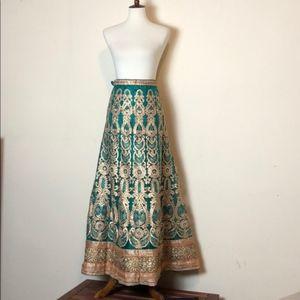 Dresses & Skirts - Beautiful Gold & Green Embellished Lehenga